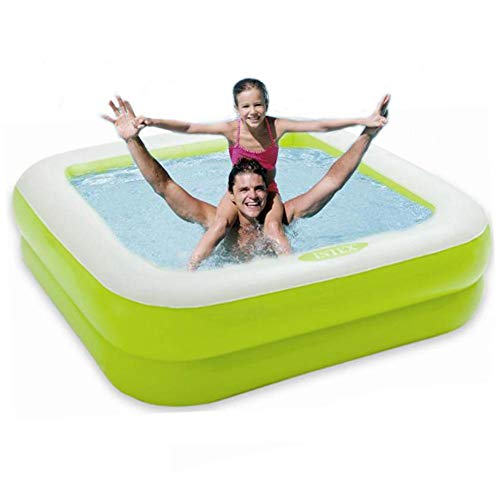 aheadad Piscina hinchable familiar, piscina de salón hinchable de gran tamaño, piscina de patuguero cuadrado Ultra-Solida para bebé, bebé, adulto para jardín al aire libre