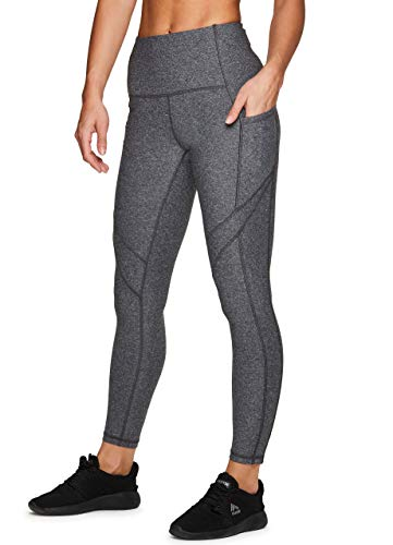 RBX Active Women's Running Yoga Ankle Length 7/8 Legging with Pockets F19 Charcoal M