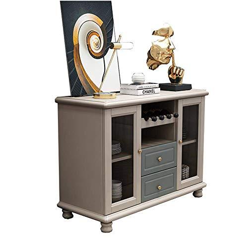 FTFTO Buffet Daily Equipment Buffet Contemporain Buffet Meuble de Rangement Salon Buffet Table d'appoint Buffets Buffets (Couleur: Gris et Vert Taille: 120x40x90cm)