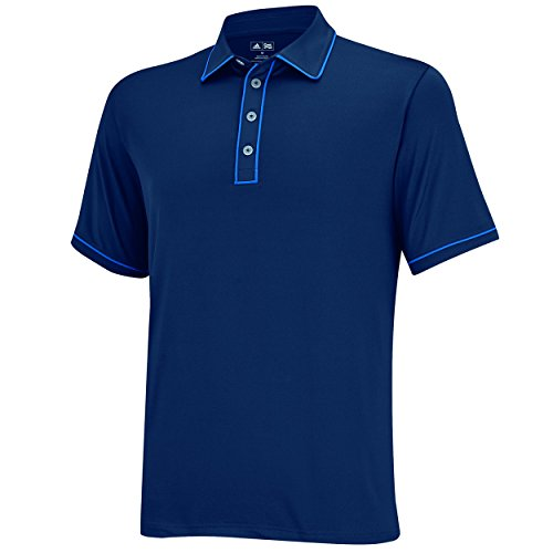 adidas Golf Men's Puremotion Piped Polo, Rich Blue/Bright Royal, Small