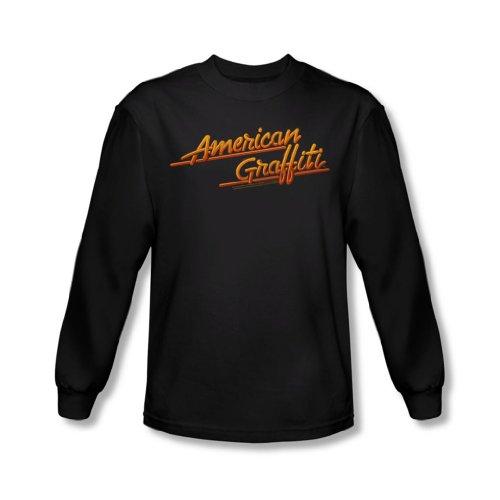 American Grafitti - Neon Logo T-shirt à manches longues pour hommes en noir -, X-Large, Black