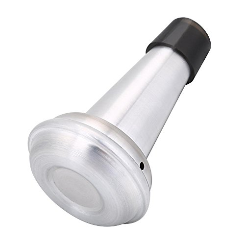 Alomejor Trompeten Dämpfer Übe die Trompete Aluminiumlegierung & Gummi Gerader Schalldämpfer für Trompeteninstrument