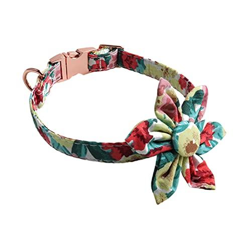 ZZCR Collar De Perro Mascota Collar De Perro De Flor Collar De Seguridad Collar Suave Collar De Hebilla Collar De Perro Collar De Varios Tamaños A L