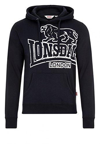Lonsdale London TADLEY Sweatshirt à Capuche Homme, Black/Ecru, XL