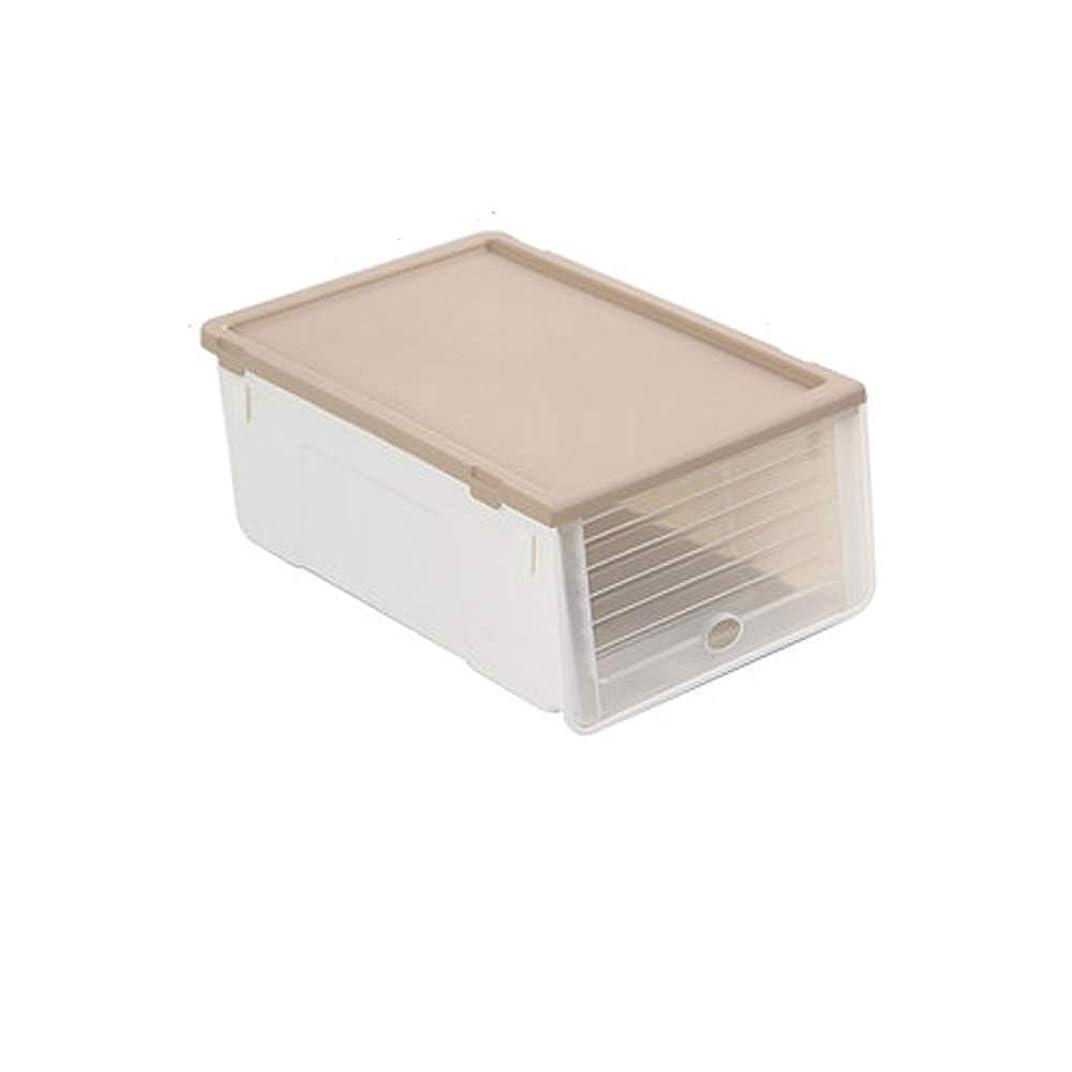 ポゴスティックジャンプ大声で熱HEHUIHUI- 靴箱、プラスチック製の靴箱、積み重ね可能な靴箱(6個) (Color : Brown)