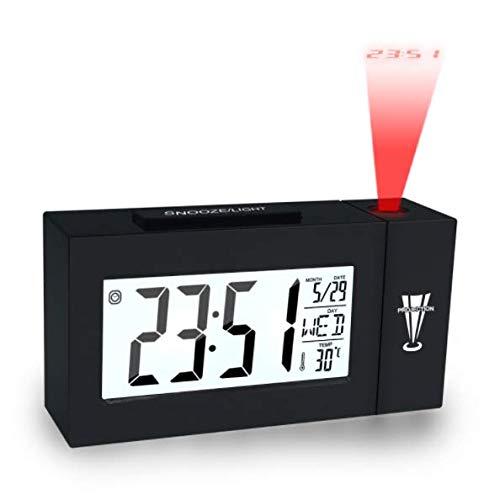 QAZW Projektionswecker Wetterstationen Innentemperaturthermometer Digitale Wetterstation Stromversorgung Über Batterien/USB-Kabel