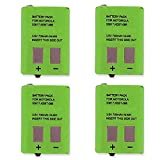 Synergy Digital 2-Way Radio Batteries, Works with Motorola KEBT-086-C 2-Way Radio, (Ni-MH, 3.6V, 700 mAh), Compatible with Motorola 53617 Battery, combo-pack includes: 4 x EM-FRS-010-NH Batteries