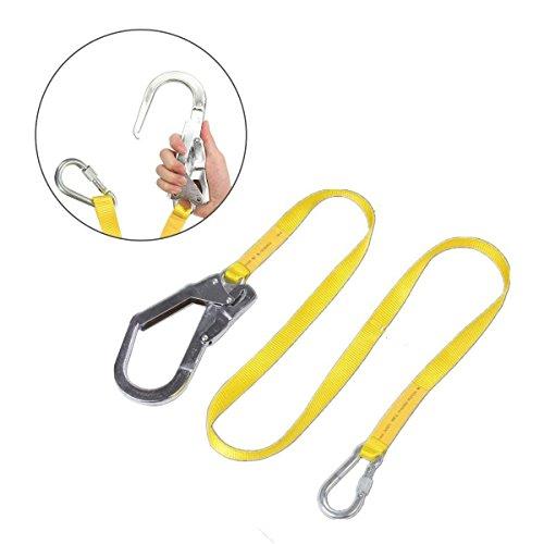 Globalflashdeal Sicherheits Lanyard, Outdoor-Klettern-Gurt Lanyard Fallschutz Seil mit grossen Karabinerhaken, Karabiner