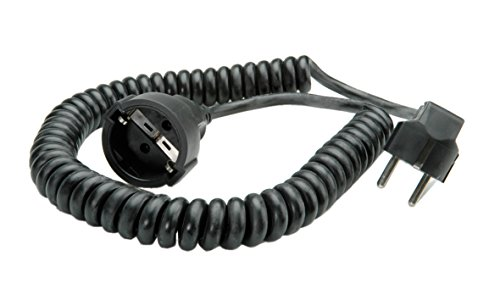 Bachmann 672.180 - Cable Alargador En Espiral (500, 2000 Mm), Color Negro