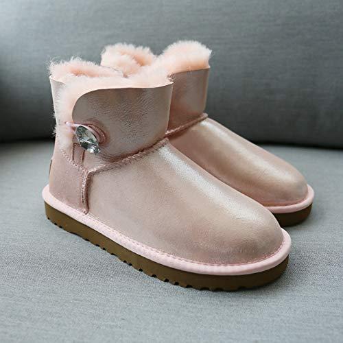 LOLIVEGO Een Sneeuwlaarzen Vrouwelijke Glas Strass Laarzen Korte Laarzen