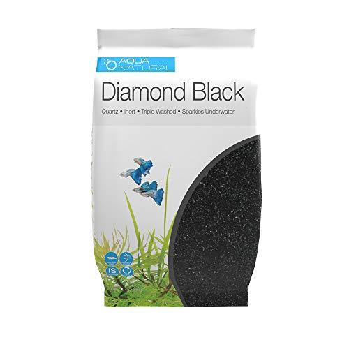 AquaNatural Diamond Black 10lb, Premium Gravel and Substrate...