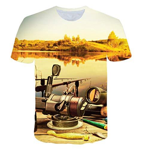 DMStyle Harajuku Lion 3D-Druck Cooles Camiseta Herren/Damen Sommer Top Camiseta Modo Lässig Tier T-Shirt @ L_Good