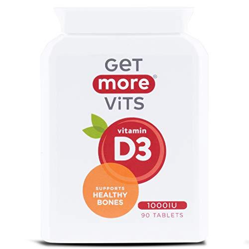 Get More Vits - Vitamin D3 1000iu Supplement, Vegetarian Friendly, Tablets (Vitamin D3)