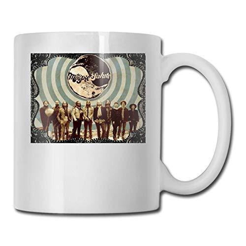 Lsjuee The Magpie Salute Las mejores ideas de regalos para el día del padre para tazas de café Taza divertida para regalo de Navidad Taza de bebida con personalidad de 11.6 onzas