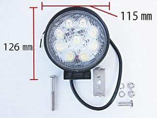 LED9連ワークライト 27W 丸型 12V-24V MM30-757R-24 MM30-757R-24
