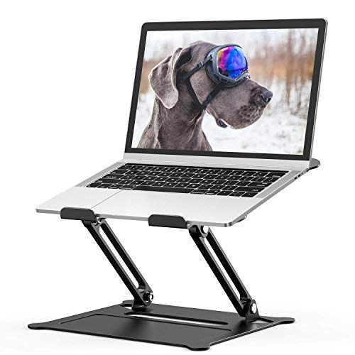 Tokmali Laptop Stand, Portable Laptop Stand Adjustable Multi-Angle Laptop Holder with Heat-Vent to Elevate Aluminum Laptop Stand Compatible for Notebook/PC/MacBook/MacBook Pro All Laptop 11-17 inches