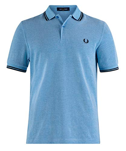 Fred Perry Polos mm3600 J76 Wave/White Ox/BL blu S