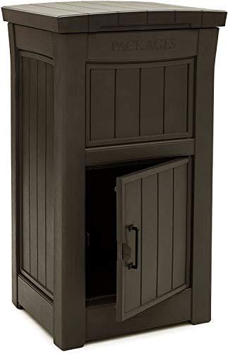 KETERケターパーセルボックスParcelBoxブラウン(宅配ボックス郵便ポスト大型戸建て戸建一戸建て宅配ロッカー据置型)
