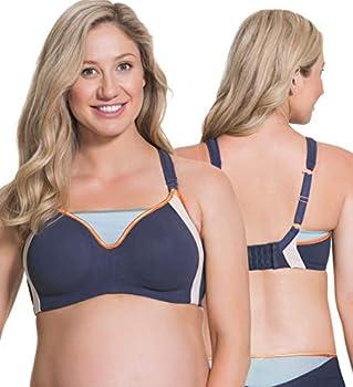 Cake Maternity Zest Nursing Sports Bra for Breastfeeding Sports Maternity Bra Blue 34B UK/ 34B US