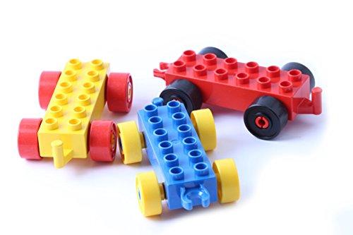 LEGO® DUPLO® 3x Fahrzeuge Anhänger Autos bunt gemischt