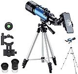 FFAN Telescopio F40070M Monocular astronómico con trípode Refractor Catalejo Zoom de Alta Potencia Potente para el Espacio astronómico Nice Family