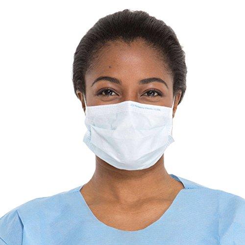 Halyard 47080 Procedure Mask, Tissue Blue (Pack of 500)