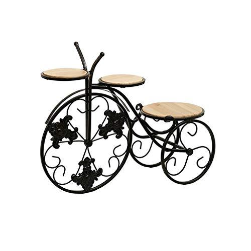 ZXCHB Hierro Retro Bicicletas Tiesto sostenedor del Triciclo Planter Base for el hogar decoración de jardín