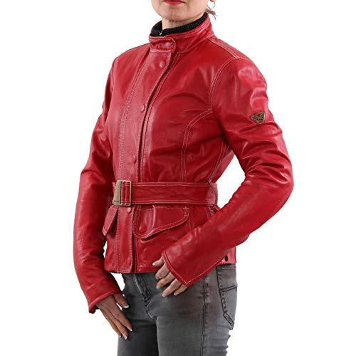 Matchless Damen Leder Jacke Kingston Classic Red 123022 Größe (42) S