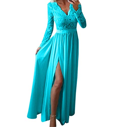 Dress for Women Elegant for Party Wedding,Lace Solid Half Sleeve Long Dresses Cocktail Club Prom Gown Tunic Dress