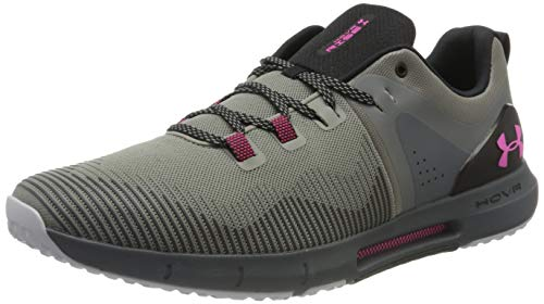 Under Armour UA HOVR Rise, Zapatillas Deportivas para Interior para Hombre, Verde (Gravity Green/Pitch Gray/Pink Surge), 49.5 EU