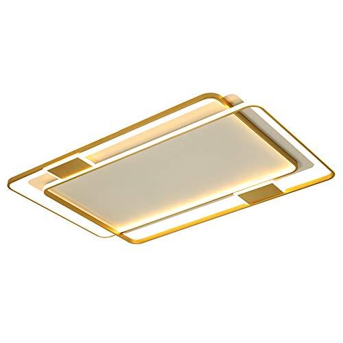 TGRBOP LED-Deckenleuchten 96W / 116W Modernes Rechteck-Design-LED-Pendent-Lampe Hohe Helligkeit Weißes Licht/DREI-Ton-Licht LED-Panel-Droplight-Deckenbeleuchtung für Wohnzimmer Schlafzimmer Büro