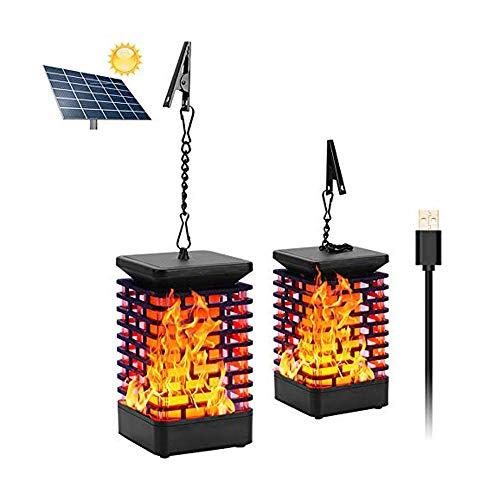 Solar lamp Flame lamp Garden Solar Lantern LED Solar Light Garden Lights Flame Light Landscape Sensor Light 2pcs. 3