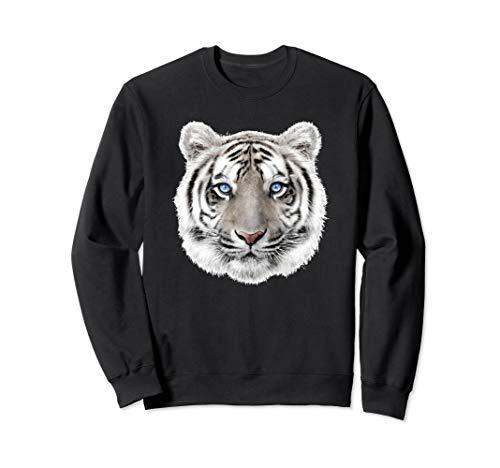Bengal White Tiger Head Sweatshirt