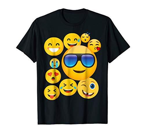emoji wear -shirt Emoticon Cute smileys Face T-Shirt