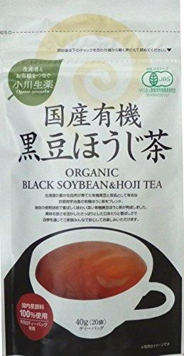 小川生薬 国産有機黒豆ほうじ茶 20包入