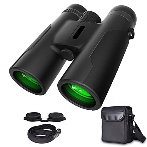 Mnwan Binoculares 12 × 42 HD Zoom, Potentes binoculares con BAK4 Prism...