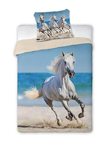 Unbekannt Faro Pferde Horse Kinder Bettwäsche 140x200 cm, Baumwolle, Mehrfarben, 200 x 140 cm
