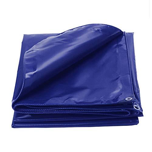 ZXXY wasserdichte Plane, dunkelblaue schwere Polyester-Mehrzweckplane für Pergola, Camping und Hinterhof, 400 g/Quadratmeter,5x5