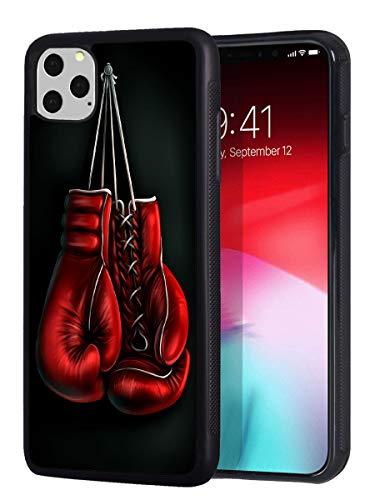 iPhone 11 Pro Max Hülle, Slim Anti-Scratch Stoßfest Gummi Schutzhülle für iPhone 11 Pro Max 6.5 Zoll 2019, Boxhandschuhe