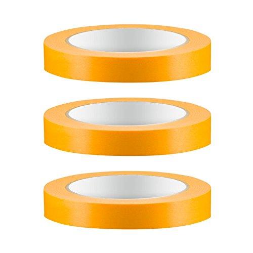 3 x Colorus PROFI Goldband Fineline 19 mm Soft Tape 50 m Acrylat Abdeckband UV Klebeband Abklebeband Fine Line Gold Papier