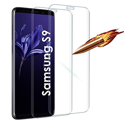Agedate Panzerglas Kompatibel mit Samsung S9, Gehärtetes Glas Schutzfolie, HD Displayschutzfolie, 9H Härte, Kratzfest, Blasenfrei, 2 Stück