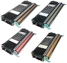 Clearprint C5240CH, C5240KH, C5240MH, C5240YH Compatible Color Toner Set for Lexmark C524, C524dn, C524dtn, C524n, C524tn, C532dn, C532n, C534dn, C534dtn, C534n printers