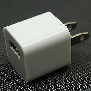شاحن حائط USB ميني USB لاجهزة ايفون 5 بنظام 5 جي اي بود باللمس بلون ابيض