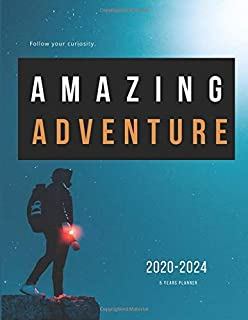 2020-2024 Five Year Planner Monthly Calendar Adventure Goals Agenda Schedule Organizer: 60 Months Calendar; Appointment Diary Journal With Address ... Notes, Julian Dates & Inspirational Quotes