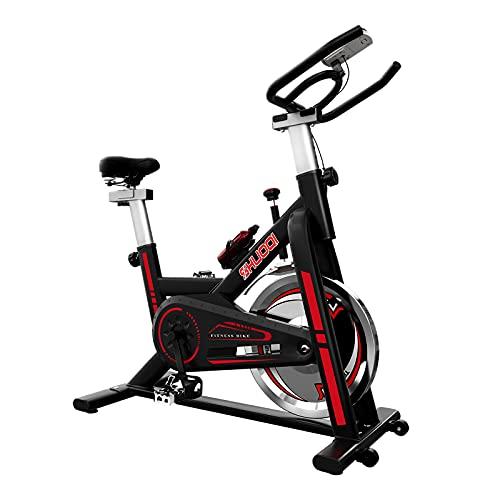 Lixada Bicicleta Estática Bicicleta de Ciclismo Interior Estacionaria Bicicleta de Entrenamiento con Transmisión de Gimnasio Cardiovascular con Volante de Inercia de 33 LBS y Manillar Ajustable