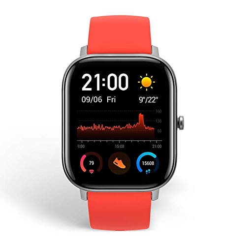 Amazfit GTS Smartwatch Fitness and Activities Tracker with Built-in GPS,5ATM Waterproof (Red)