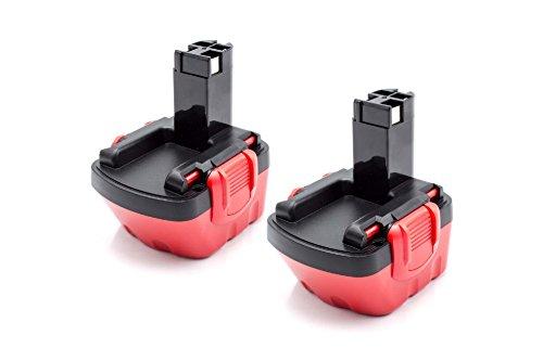 vhbw 2x NiMH batterie 1500mAh (12V) pour outil électrique outil Powertools Tools Bosch GSR 12V, JAN-55, PAG 12, PSB 12 VE-2, PSR 12, PSR 12VE