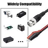 YACSEJAO BNC Cable de prueba de pinza de cocodrilo doble, 1M / 3.3FT BNC Q9 a Cable de prueba de pinza de cocodrilo doble para videovigilancia, generadores de señal de osciloscopios