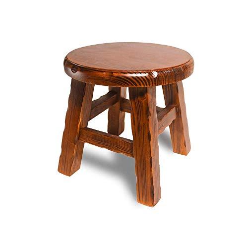 KOIUJ Multi-Funktions-Massivholz-Schuh Bench Hocker Kinder Erwachsener Hocker Wohnzimmer Haus Kleine Bank Sofa Teetisch Stuhl Auf Schlickerbad Bench Hocker (Farbe: braun)