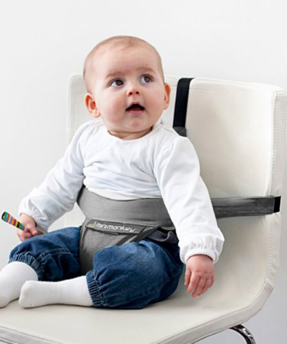Minichair (Grigio) Seggiolino da Tavola Bambini Portatile invece di seggiolone - sta anche in borsa!